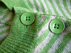 lacquered metal buttons