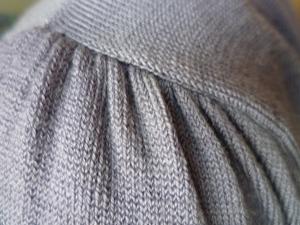 a tucked seam