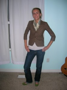 shirt pomme blazer DI scarf F21 jeans oldnavy shoes target2